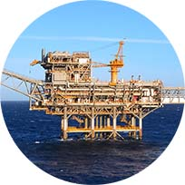 nw Bass Strait Platform Exxon colour circle